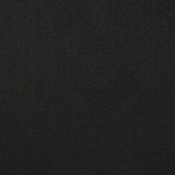 コットン&ポリエステル×無地(ブラック)×サテンストレッチ