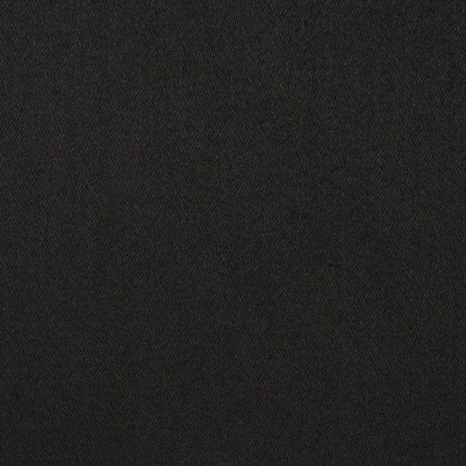 コットン&ポリエステル×無地(ブラック)×サテンストレッチ イメージ1