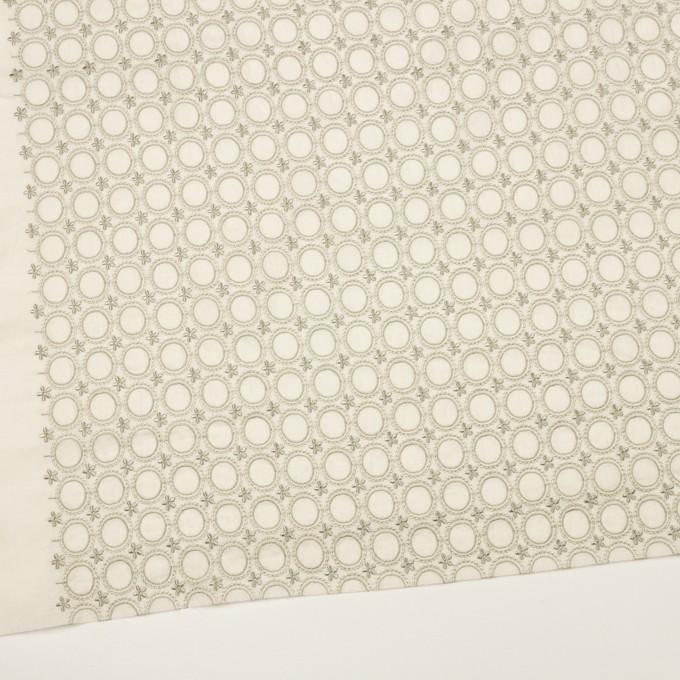 コットン×フラワー(グリーンミスト)×ボイル刺繍 イメージ2