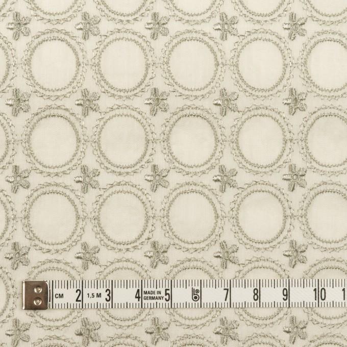 コットン×フラワー(グリーンミスト)×ボイル刺繍 イメージ4