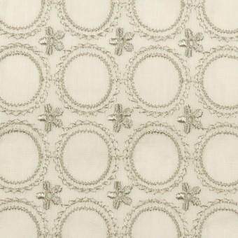 コットン×フラワー(グリーンミスト)×ボイル刺繍