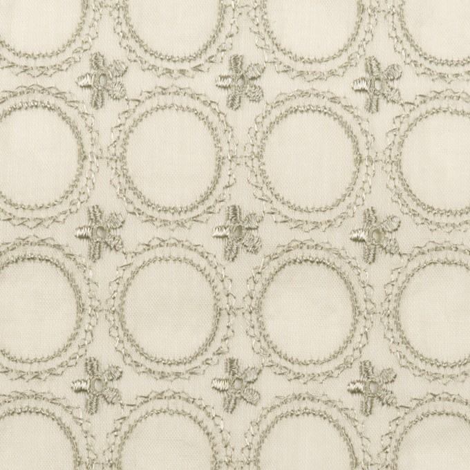 コットン×フラワー(グリーンミスト)×ボイル刺繍 イメージ1