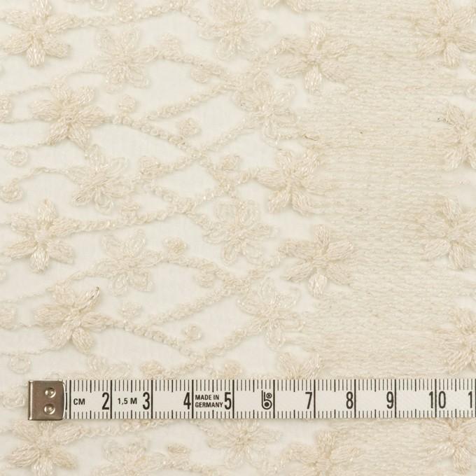 ナイロン×フラワー(エクリュ)×オーガンジー刺繍 イメージ4