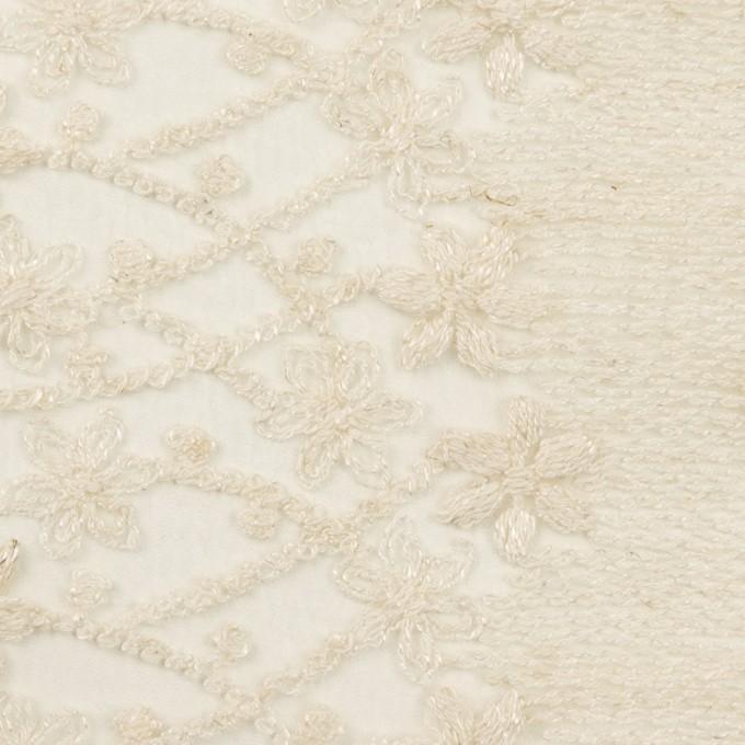 ナイロン×フラワー(エクリュ)×オーガンジー刺繍 イメージ1