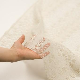 ナイロン×フラワー(エクリュ)×オーガンジー刺繍 サムネイル5