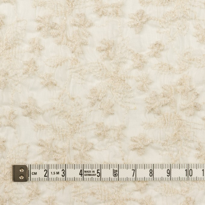 コットン×フラワー(エクリュ)×ボイルシャーリング刺繍 イメージ4