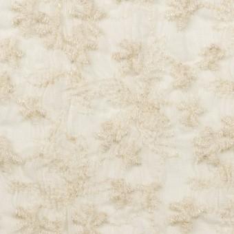 コットン×フラワー(エクリュ)×ボイルシャーリング刺繍 サムネイル1