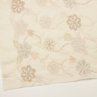 コットン×フラワー(エクリュ、シルバー&ゴールド)×ボイル刺繍 サムネイル2