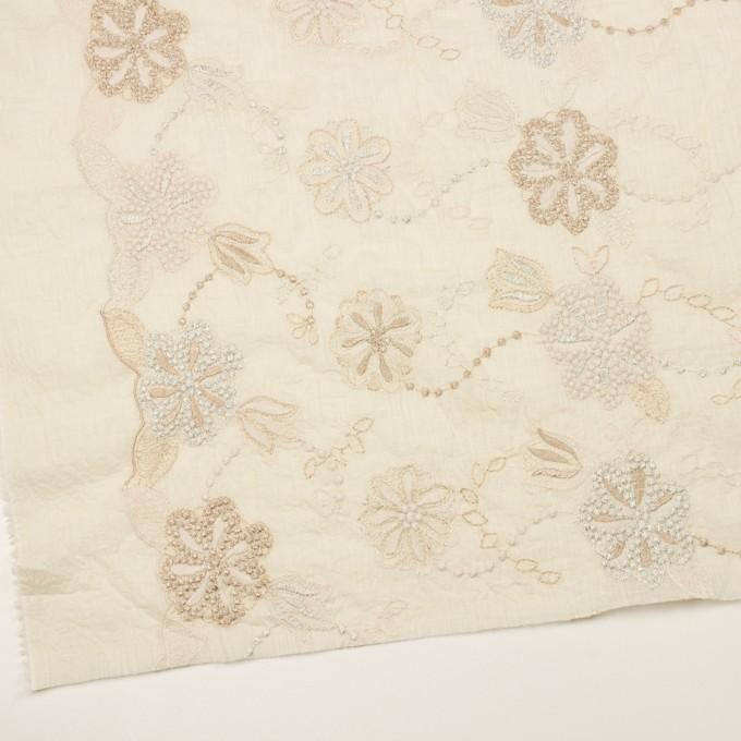 コットン×フラワー(エクリュ、シルバー&ゴールド)×ボイル刺繍 イメージ2