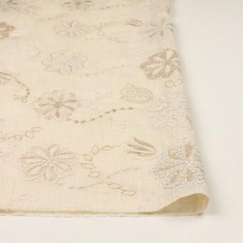 コットン×フラワー(エクリュ、シルバー&ゴールド)×ボイル刺繍 サムネイル3