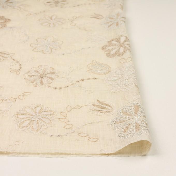 コットン×フラワー(エクリュ、シルバー&ゴールド)×ボイル刺繍 イメージ3