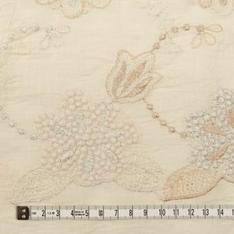 コットン×フラワー(エクリュ、シルバー&ゴールド)×ボイル刺繍 サムネイル4
