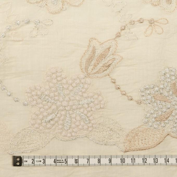 コットン×フラワー(エクリュ、シルバー&ゴールド)×ボイル刺繍 イメージ4