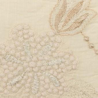 コットン×フラワー(エクリュ、シルバー&ゴールド)×ボイル刺繍