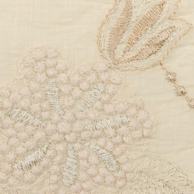 コットン×フラワー(エクリュ、シルバー&ゴールド)×ボイル刺繍 イメージ1