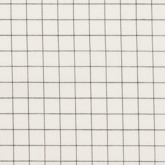 コットン×チェック(ブラック)×サージ_全2色
