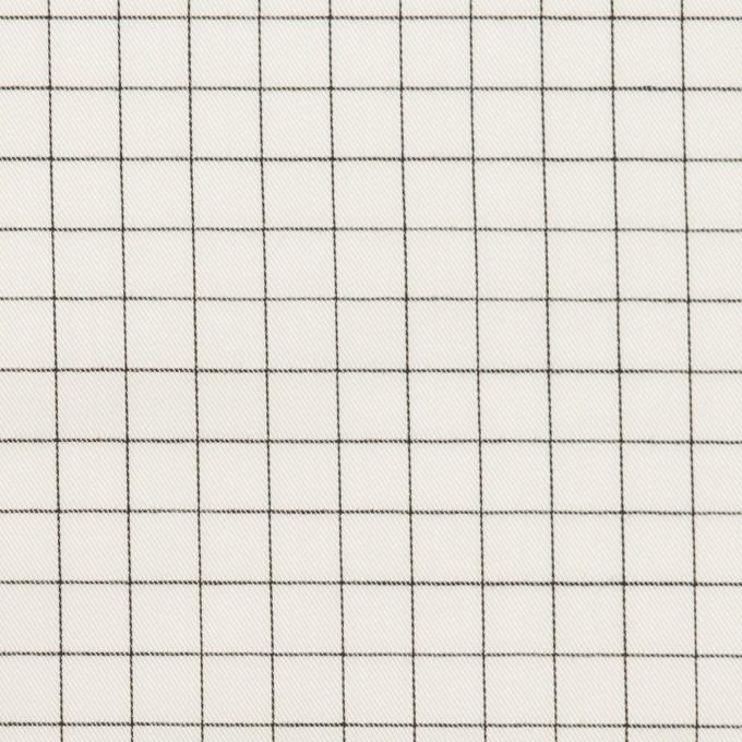 コットン×チェック(ブラック)×サージ_全2色 イメージ1