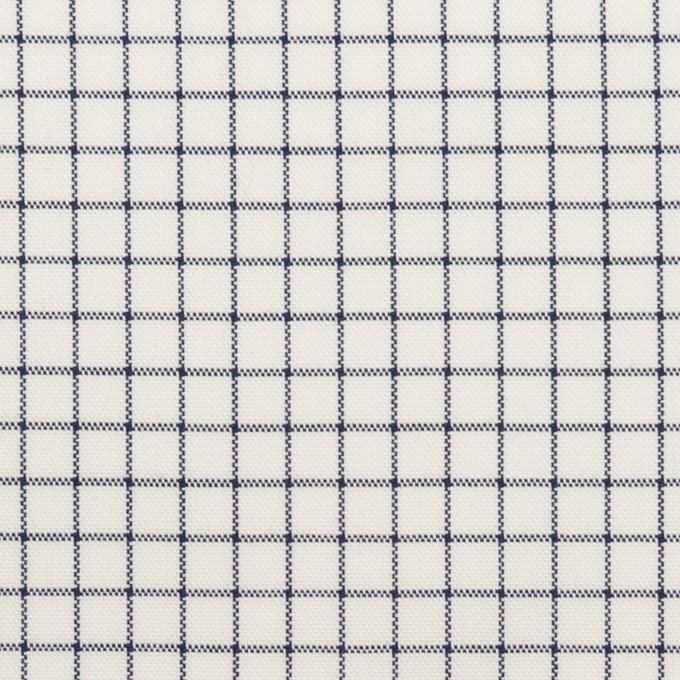 コットン×チェック(ネイビー)×オックスフォード イメージ1