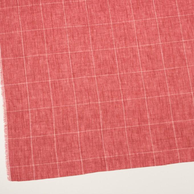 リネン×チェック(ローズ)×ガーゼ_全2色_イタリア製 イメージ2