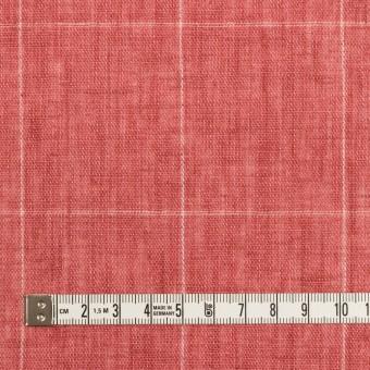 リネン×チェック(ローズ)×ガーゼ_全2色_イタリア製 サムネイル4