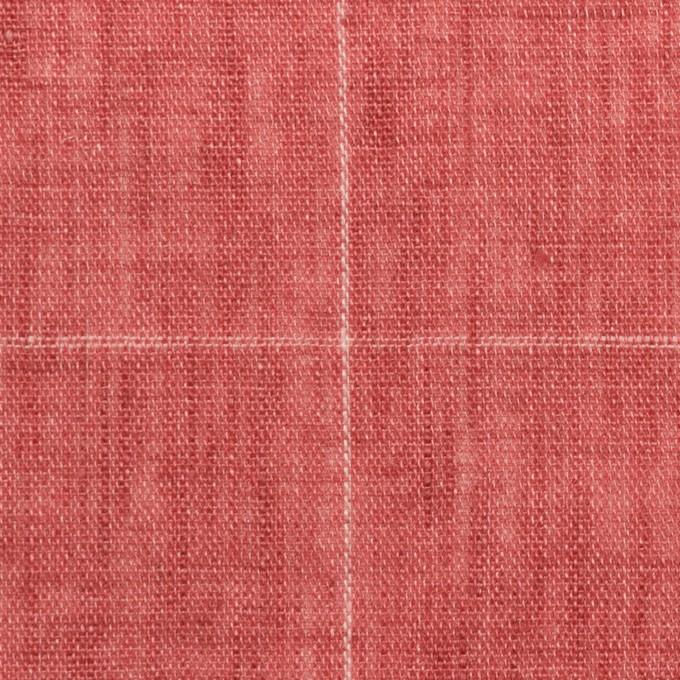 リネン×チェック(ローズ)×ガーゼ_全2色_イタリア製 イメージ1