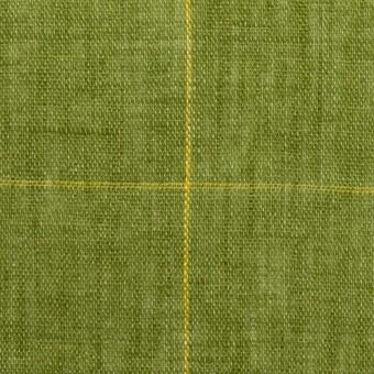 リネン×チェック(グリーン)×ガーゼ_全2色_イタリア製