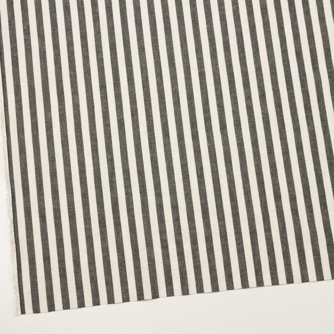 コットン&リネン×ストライプ(アイボリー&チャコール)×ポプリン イメージ2