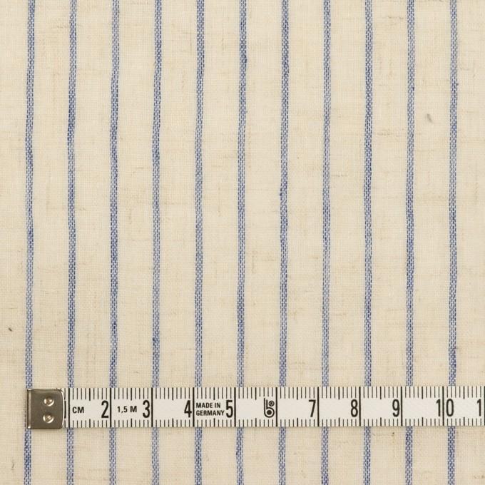 コットン&リネン×ストライプ(エクリュ&アッシュブルー)×Wガーゼ イメージ4