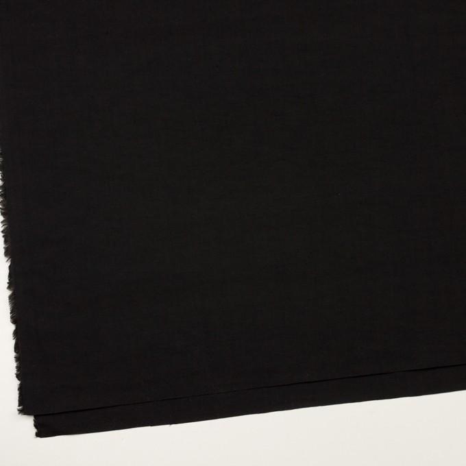 リネン&ナイロン×無地(ブラック)×キャンバス イメージ2