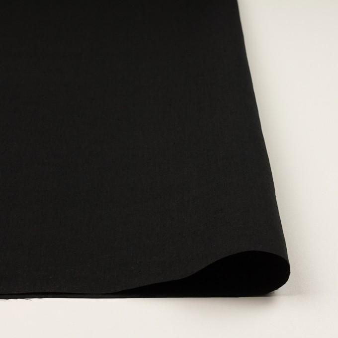 リネン&ナイロン×無地(ブラック)×キャンバス イメージ3