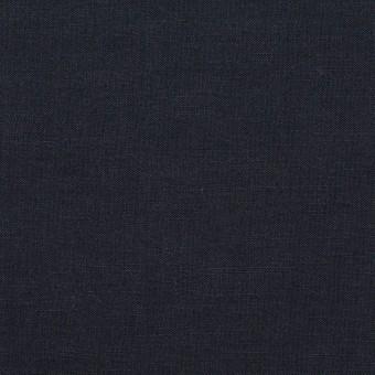 リネン&ビスコース混×無地(ネイビー)×ポプリンストレッチ_全2色_イタリア製
