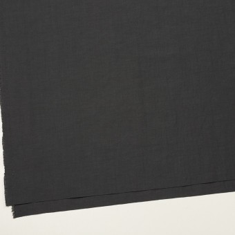 リネン&ビスコース混×無地(チャコールグレー)×ポプリンストレッチ_全2色_イタリア製 サムネイル2