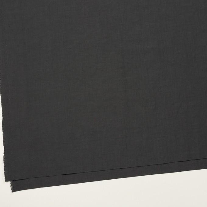 リネン&ビスコース混×無地(チャコールグレー)×ポプリンストレッチ_全2色_イタリア製 イメージ2