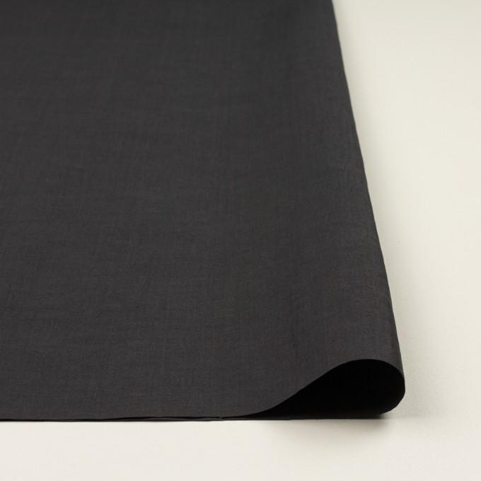 リネン&ビスコース混×無地(チャコールグレー)×ポプリンストレッチ_全2色_イタリア製 イメージ3