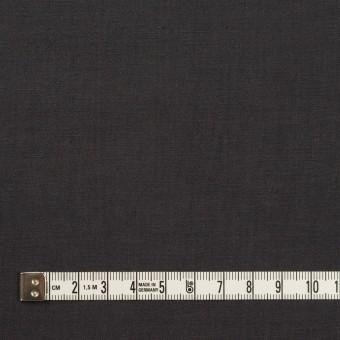 リネン&ビスコース混×無地(チャコールグレー)×ポプリンストレッチ_全2色_イタリア製 サムネイル4