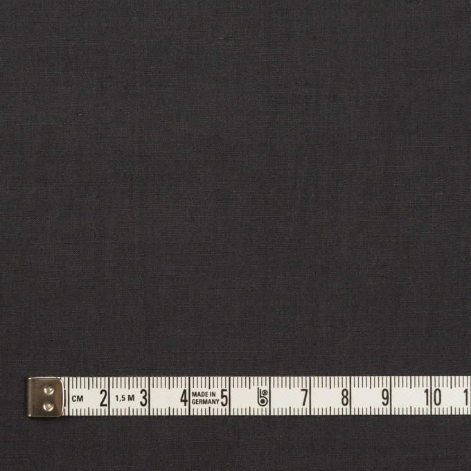 リネン&ビスコース混×無地(チャコールグレー)×ポプリンストレッチ_全2色_イタリア製 イメージ4