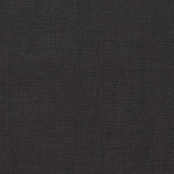 リネン&ビスコース混×無地(チャコールグレー)×ポプリンストレッチ_全2色_イタリア製