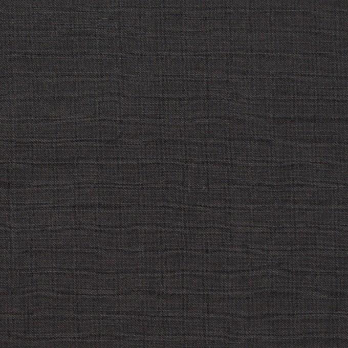 リネン&ビスコース混×無地(チャコールグレー)×ポプリンストレッチ_全2色_イタリア製 イメージ1