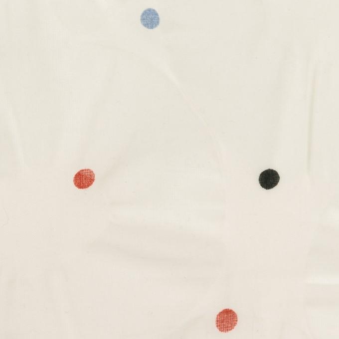 コットン×サークル(ミルク)×ボイル_塩縮加工_全2色 イメージ1