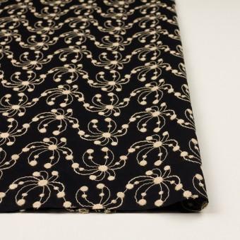 コットン×幾何学模様(ブラック&ライトベージュ)×ローン刺繍_全2色 サムネイル3
