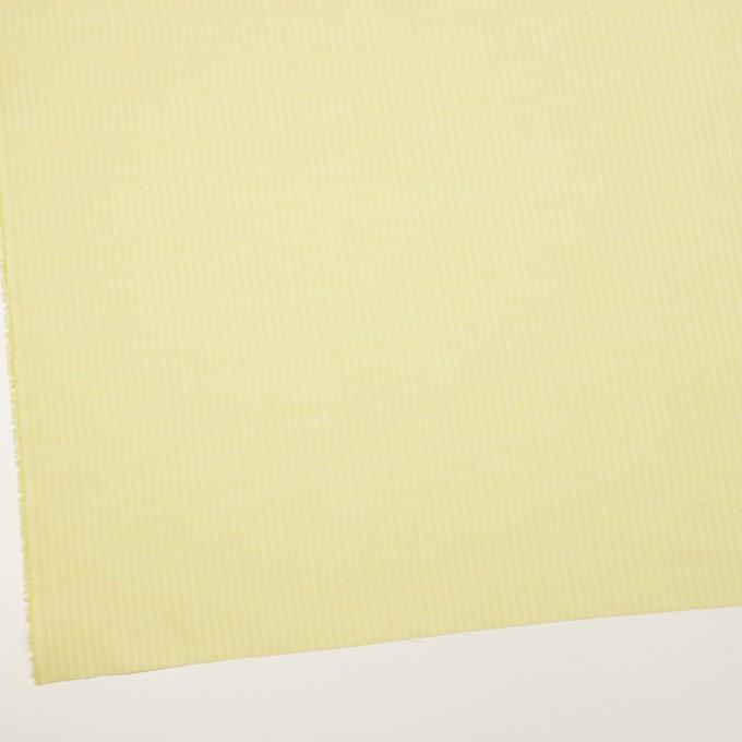 コットン&シルク×ストライプ(レモンイエロー)×ボイル イメージ2