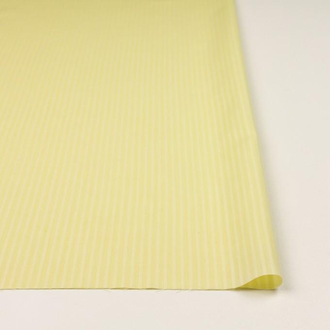 コットン&シルク×ストライプ(レモンイエロー)×ボイル イメージ3