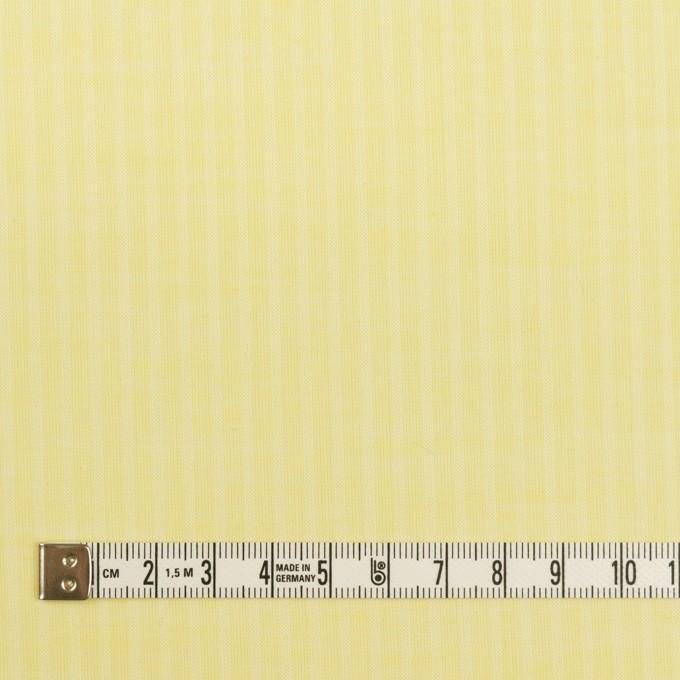 コットン&シルク×ストライプ(レモンイエロー)×ボイル イメージ4