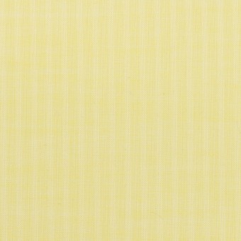 コットン&シルク×ストライプ(レモンイエロー)×ボイル サムネイル1
