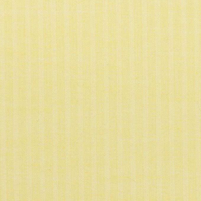 コットン&シルク×ストライプ(レモンイエロー)×ボイル イメージ1