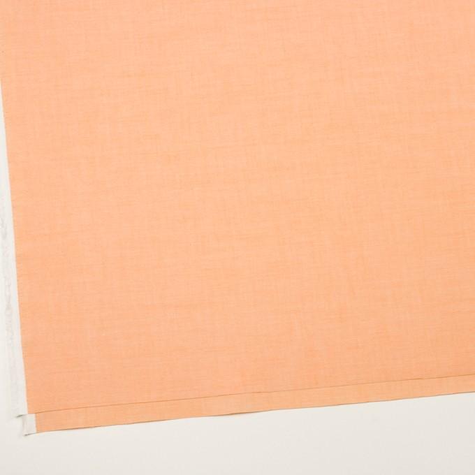 コットン×無地(オレンジ)×オックスフォード イメージ2