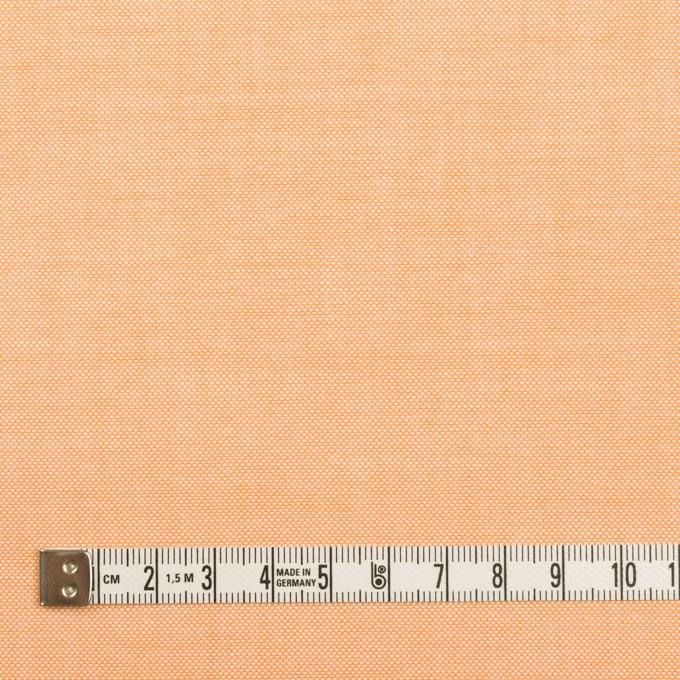 コットン×無地(オレンジ)×オックスフォード イメージ4