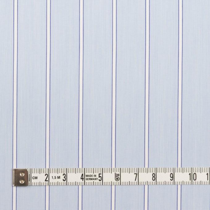 コットン&ポリエステル×ストライプ(サックス)×ローン イメージ4
