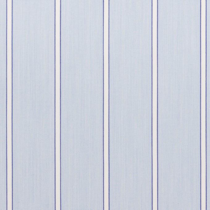コットン&ポリエステル×ストライプ(サックス)×ローン イメージ1