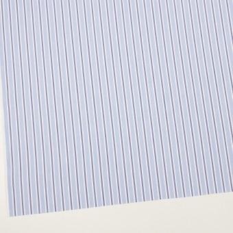 コットン&ポリエステル×ストライプ(ライトブルー&ネイビー)×ローン サムネイル2
